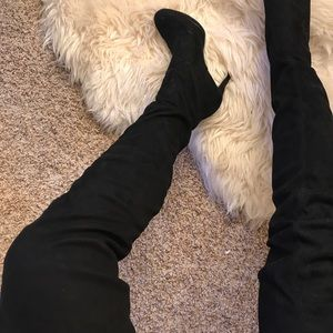 Fashion Nova Shoes - Thigh high suede boots